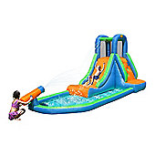 Inflatable Waterslide with Pool and Water Cannon