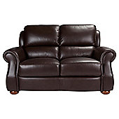 Paloma Leather Small Sofa Chocolate