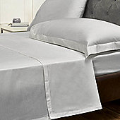 Julian Charles Percale Pale Silver Luxury 180 Thread Count Flat Sheet - King Size