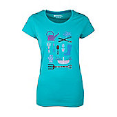 Gardening Womens Relaxed Tee Shirt 100% Cotton T-Shirt - Blue
