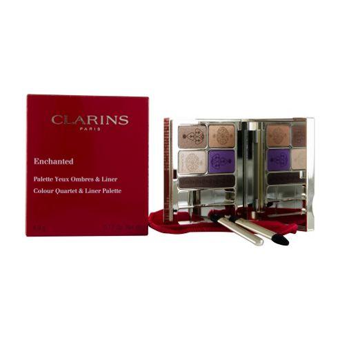 Clarins Enchanted Colour Quartet & Liner Palette 4.9g (Purple/Brown)