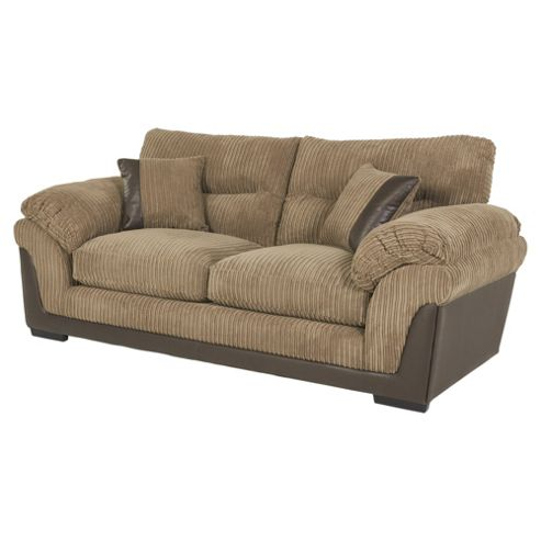 buy kendal jumbo cord large 3 seater sofa taupe from our fabric sofas range tesco. Black Bedroom Furniture Sets. Home Design Ideas