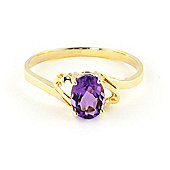 QP Jewellers 0.75ct Amethyst Classic Desire Ring in 14K Gold