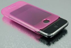 PressureSURE Digital Sensory Skin (Pink Glow) Apple iPhone 2G 3G 3GS