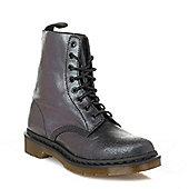 Dr Martens Womens Black Pascal Crackle Suede Boots - Black