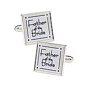 Classic Square Father of the Bride Wedding Cufflinks