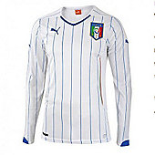 2014-15 Italy Away World Cup Long Sleeve Shirt - White