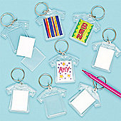 Design a T-Shirt Acrylic Keyring (Pack of 6)