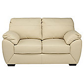 Alberta Small Leather Sofa, Ivory