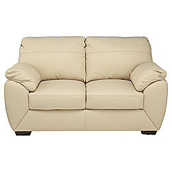 Alberta Leather Small 2 seater Sofa , Ivory