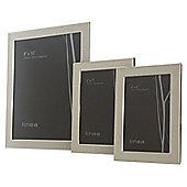 Linea Metal 5X 7 Beaded Enamel Photo Frame In Silver