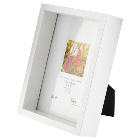 buy tesco box frame white 5x7 from our all frames range. Black Bedroom Furniture Sets. Home Design Ideas