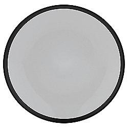 Two Tone Stoneware Side Plate, Black