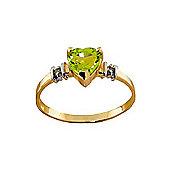 QP Jewellers Diamond & Peridot Heart Ring in 14K Gold