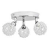 Alambre Three Way Adjustable Ceiling Spotlight in Chrome