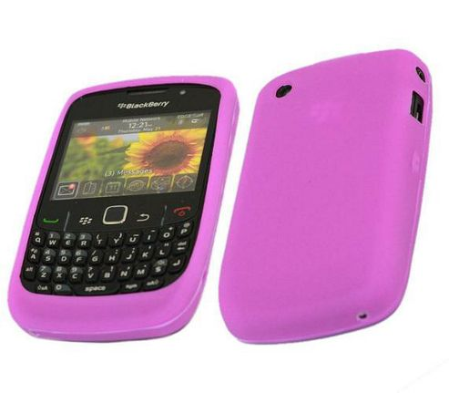 iTALKonline SoftSkin Silicone Case Purple - For Blackberry 8520 Curve, 9300 3G