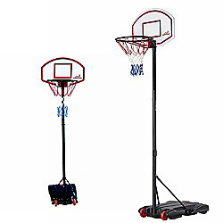 Woodworm Adjustable 165-210Cm Portable Basketball Hoop Net System On Wheels