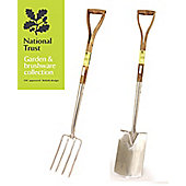 Bentley Garden National Trust Digging Spade & Fork Tool Set