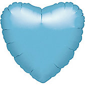 Light Blue Heart Balloon - 18' Iridescent Pearl Foil (each)