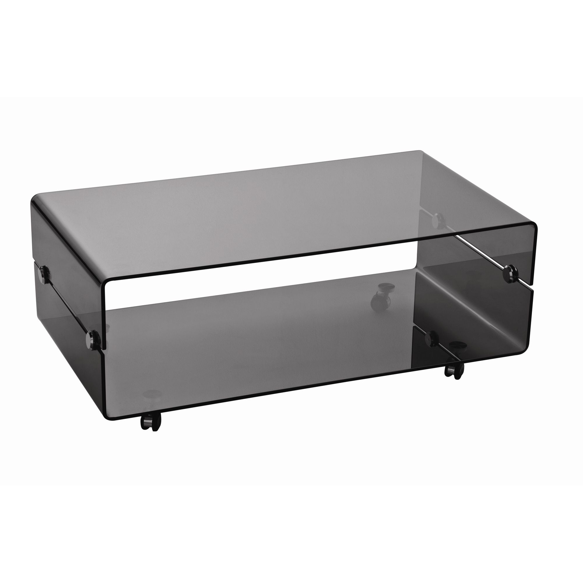 Premier Housewares Two Tier Coffee Table with Wheels at Tesco Direct