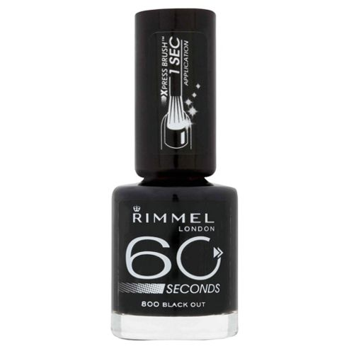 Rimmel 60 Seconds Nail Polish Black out