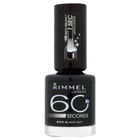 Rimmel 60 Seconds Nail Polish Black out