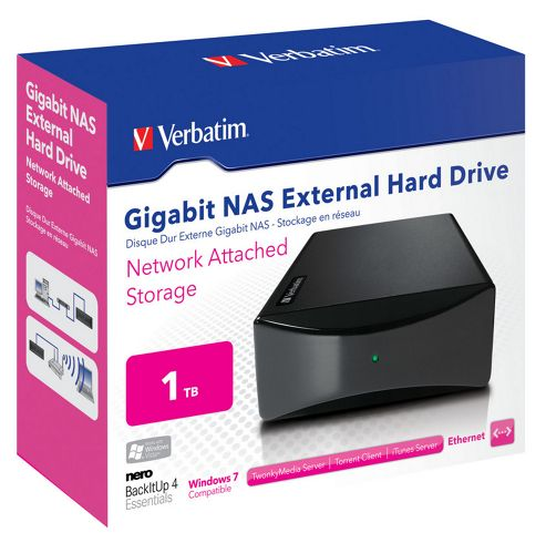 Verbatim 47591 1TB Gigabit/Ethernet/USB 2.0 NAS External Desktop Hard Drive