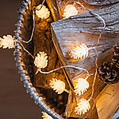 24 Warm White LED Pinecone Indoor Fairy Lights