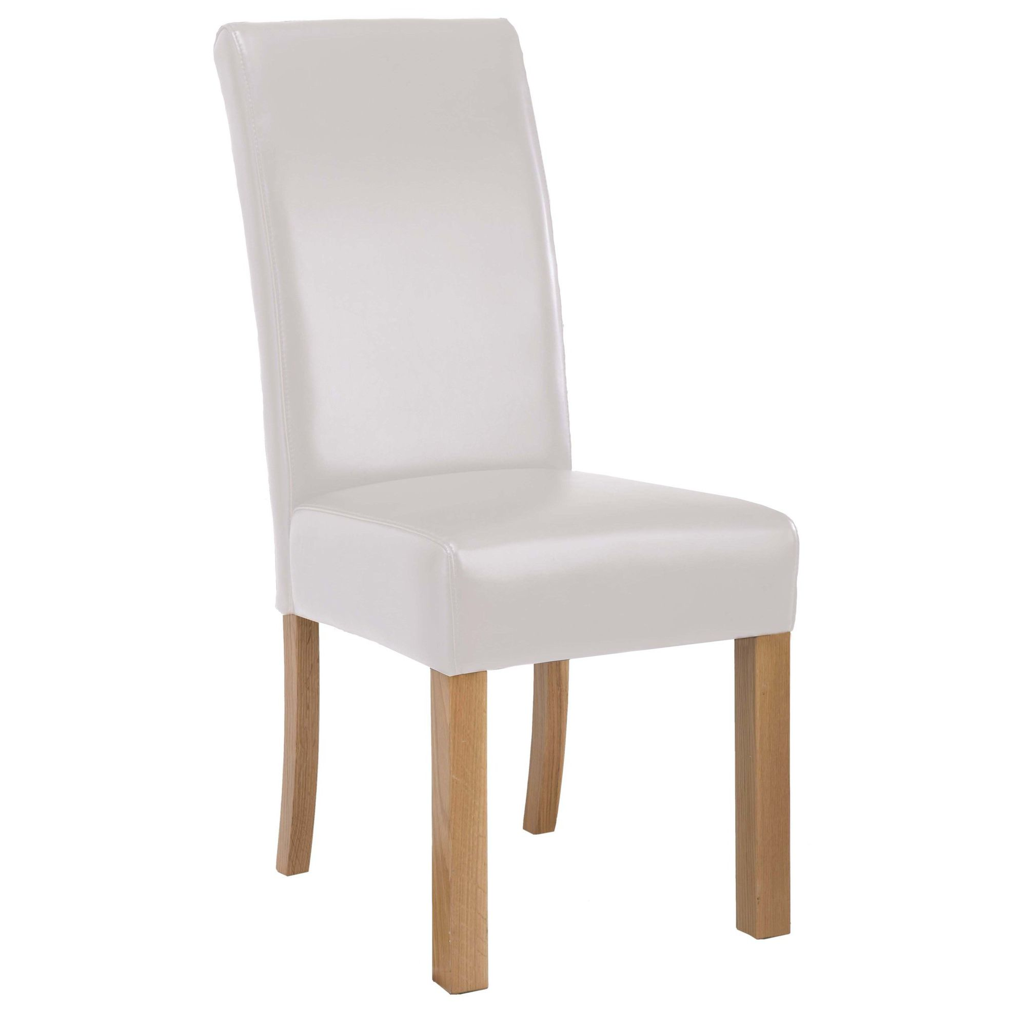 Oakinsen Concord Leather Dining Chair in Cream (Set of 2)