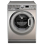 Hotpoint WDPG8640X Washer Dryer, 8kg Load, 1400 RPM Spin, A Energy Rating, Stainless Steel
