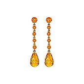 QP Jewellers 23.0ct Citrine Gemstones-by-the-Yard Earrings in 14K Gold