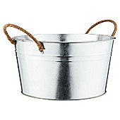 Galvanised Round Bucket with Rope Handles