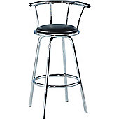 Home Essence New Bermuda Swivel Bar Chair - Black