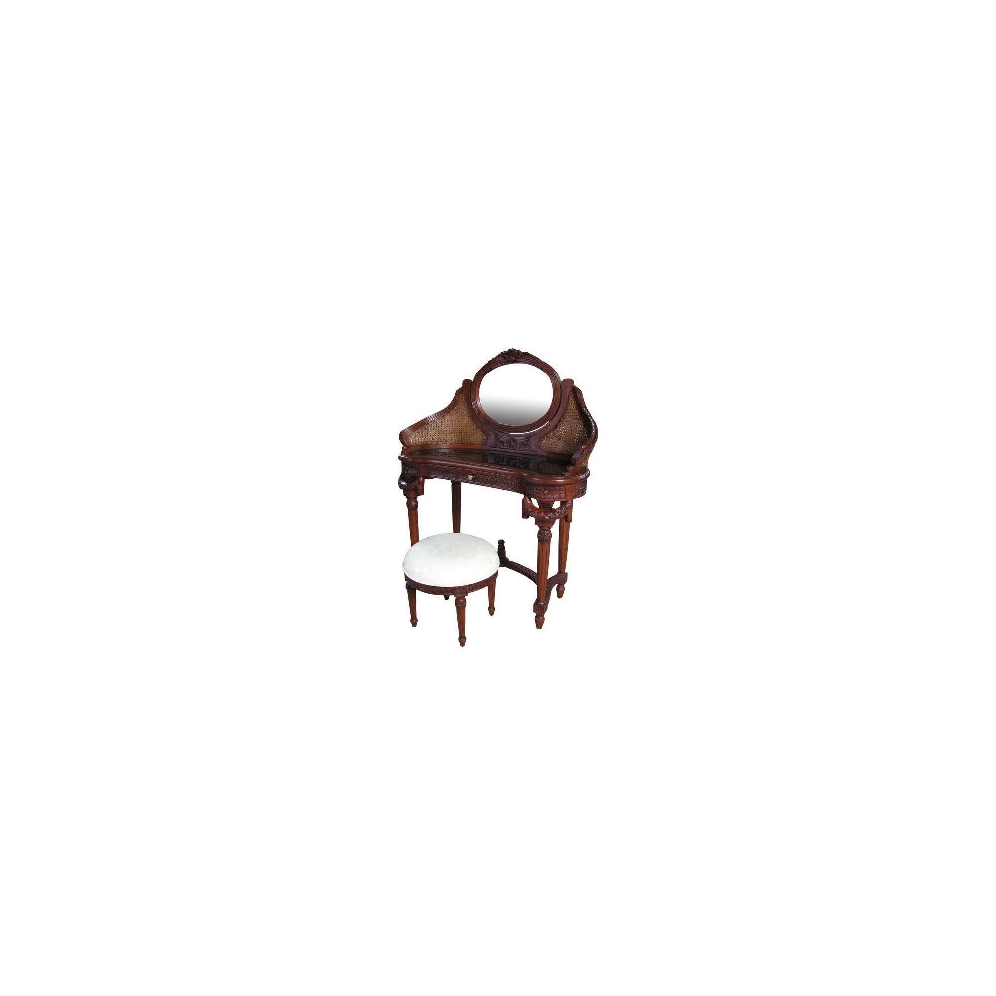 Lock stock and barrel Mahogany Rattan Dressing Table in Mahogany - Wax at Tescos Direct