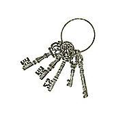 Linea Set Of Vintage Keys In Grey