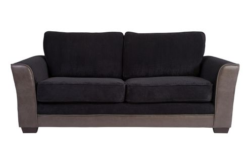 Buy Devon Three Seater Sofa Black From Our Fabric Sofas