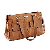 Vanchi Sydney Satchel Changing Bag Tan