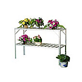 Nison Two Tier Aluminium Staging in Silver (115 X 50 X 75CM)