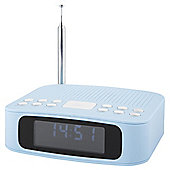 Tesco DCR1401B DAB Clock Radio Blue