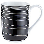 Tesco Atlanta White Porcelain Mug Black