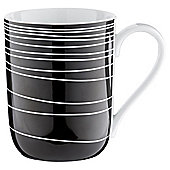 Tesco Atlanta Super White Porcelain Mug, Black