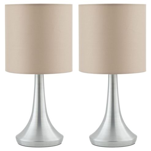 Buy 2 Touch Table Lamps Taupe From Our Table Lamps Range