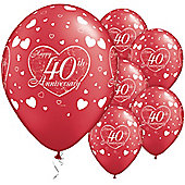 11' 40th Anniversary Little Hearts (6pk)
