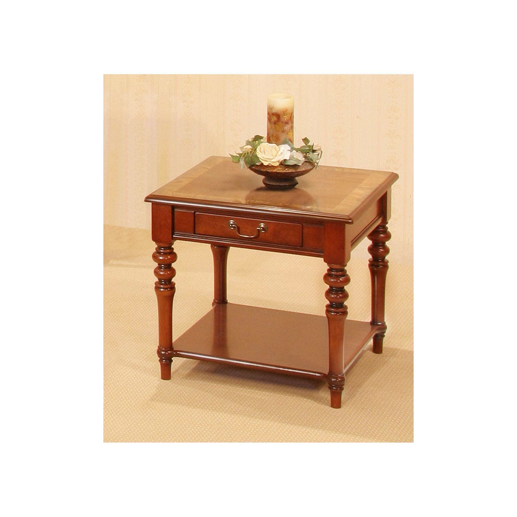 Solway Furniture Aspen Lamp Table in Mahogany and Ash (Set of 2) at Tescos Direct