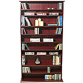 Techstyle Large CD / DVD / Video Multimedia Storage Shelves - Mahogany