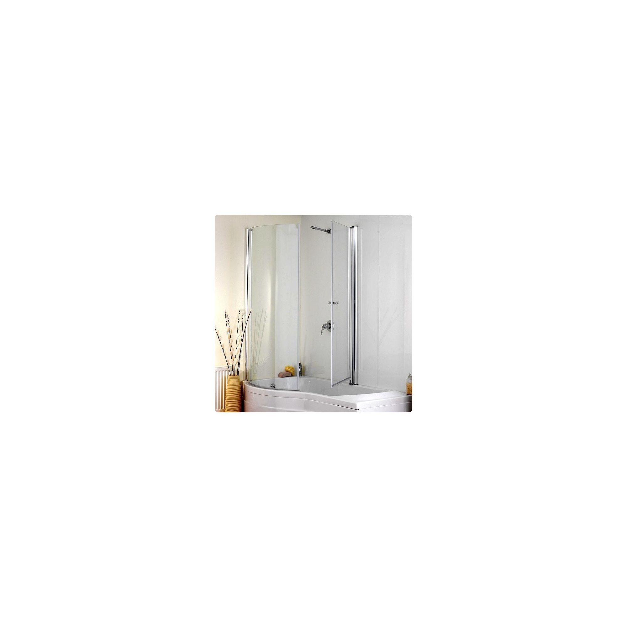 Duchy JESSICA Curved Showerbath Bath Panel withBath Screen LEFT HANDED at Tesco Direct
