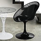 Premier Housewares Sendero Revolving Chair (Set of 2) - Black