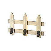 Parlane Wall Hanging Quirky Style Coat Hooks on a Fence - 14.5 x 23.5cm