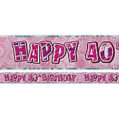 Dazzling Effects 40th Birthday Banner (each)