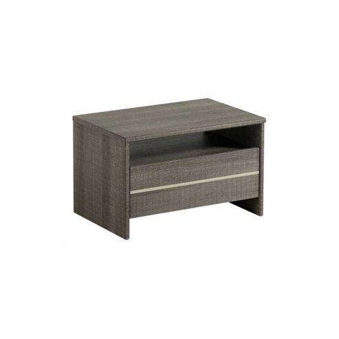 Parisot Split 1 Drawer Bedside Table - Licorice
